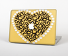 The Yellow Heart Shaped Leopard Skin Set for the Apple MacBook Pro 15""