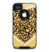 The Yellow Heart Shaped Leopard Skin for the iPhone 4-4s OtterBox Commuter Case