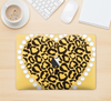 "The Yellow Heart Shaped Leopard Skin Kit for the 12"" Apple MacBook"
