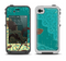 The Yellow Lace and Flower on Teal Apple iPhone 4-4s LifeProof Fre Case Skin Set