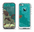 The Yellow Lace and Flower on Teal Apple iPhone 5-5s LifeProof Fre Case Skin Set