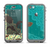 The Yellow Lace and Flower on Teal Apple iPhone 5c LifeProof Nuud Case Skin Set