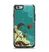 The Yellow Lace and Flower on Teal Apple iPhone 6 Otterbox Symmetry Case Skin Set