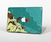 "The Yellow Lace and Flower on Teal Skin Set for the Apple MacBook Pro 13"" with Retina Display"