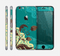 The Yellow Lace and Flower on Teal Skin for the Apple iPhone 6