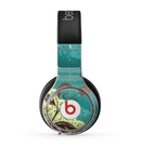 The Yellow Lace and Flower on Teal Skin for the Beats by Dre Pro Headphones