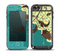 The Yellow Lace and Flower on Teal Skin for the iPod Touch 5th Generation frē LifeProof Case