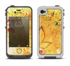 The Yellow Leaf-Imprinted Paint Splatter Apple iPhone 4-4s LifeProof Fre Case Skin Set