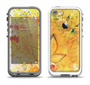 The Yellow Leaf-Imprinted Paint Splatter Apple iPhone 5-5s LifeProof Fre Case Skin Set