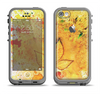 The Yellow Leaf-Imprinted Paint Splatter Apple iPhone 5c LifeProof Fre Case Skin Set