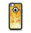 The Yellow Leaf-Imprinted Paint Splatter Apple iPhone 5c Otterbox Defender Case Skin Set