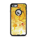 The Yellow Leaf-Imprinted Paint Splatter Apple iPhone 6 Plus Otterbox Defender Case Skin Set