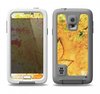The Yellow Leaf-Imprinted Paint Splatter Samsung Galaxy S5 LifeProof Fre Case Skin Set
