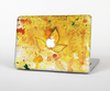 The Yellow Leaf-Imprinted Paint Splatter Skin Set for the Apple MacBook Pro 15""