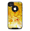 The Yellow Leaf-Imprinted Paint Splatter Skin for the iPhone 4-4s OtterBox Commuter Case.png