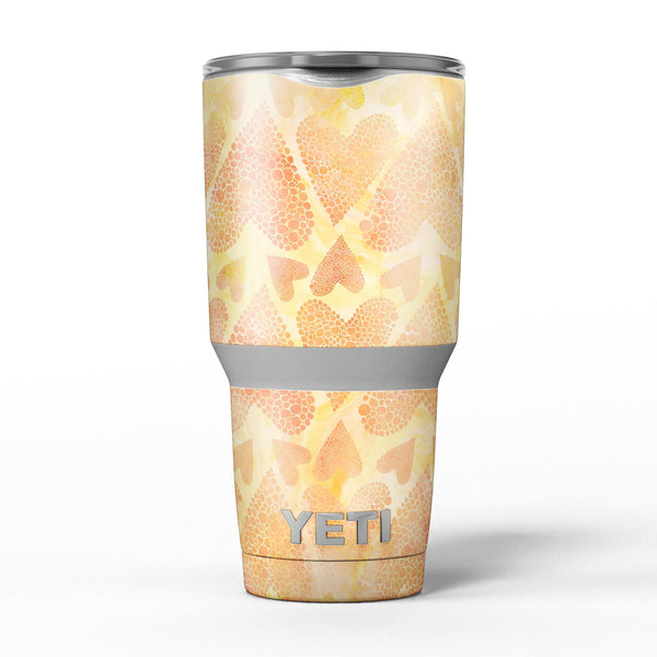 The_Yellow_Orange_Tiny_Hearts_of_a_Whole_-_Yeti_Rambler_Skin_Kit_-_30oz_-_V5.jpg
