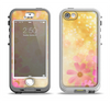 The Yellow & Pink Flowerland Apple iPhone 5-5s LifeProof Nuud Case Skin Set