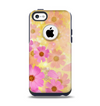 The Yellow & Pink Flowerland Apple iPhone 5c Otterbox Commuter Case Skin Set
