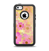 The Yellow & Pink Flowerland Apple iPhone 5c Otterbox Defender Case Skin Set