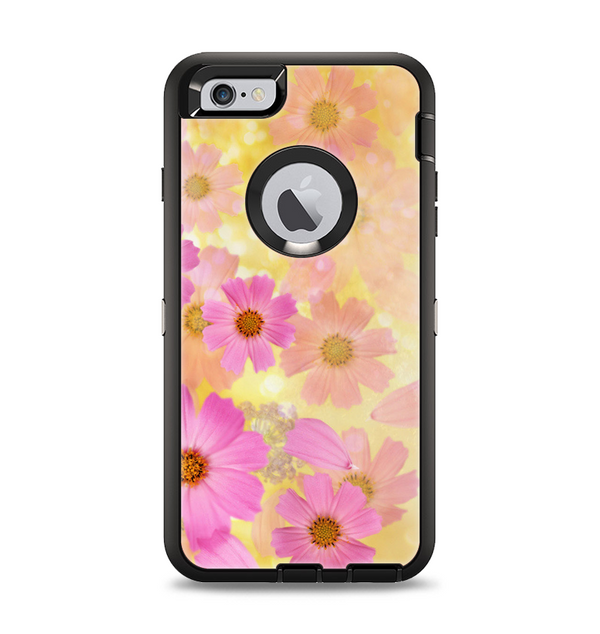 The Yellow & Pink Flowerland Apple iPhone 6 Plus Otterbox Defender Case Skin Set