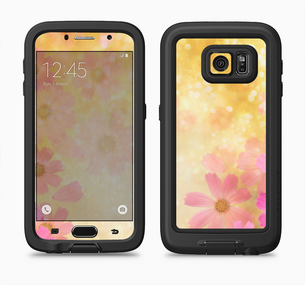 The Yellow & Pink Flowerland Full Body Samsung Galaxy S6 LifeProof Fre Case Skin Kit