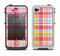 The Yellow & Pink Plaid Apple iPhone 4-4s LifeProof Fre Case Skin Set