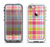 The Yellow & Pink Plaid Apple iPhone 5-5s LifeProof Fre Case Skin Set