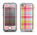 The Yellow & Pink Plaid Apple iPhone 5-5s LifeProof Nuud Case Skin Set