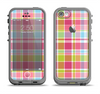 The Yellow & Pink Plaid Apple iPhone 5c LifeProof Fre Case Skin Set