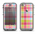 The Yellow & Pink Plaid Apple iPhone 5c LifeProof Nuud Case Skin Set