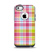 The Yellow & Pink Plaid Apple iPhone 5c Otterbox Commuter Case Skin Set