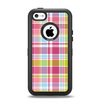 The Yellow & Pink Plaid Apple iPhone 5c Otterbox Defender Case Skin Set
