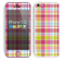 The Yellow & Pink Plaid Skin for the Apple iPhone 5c