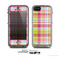 The Yellow & Pink Plaid Skin for the Apple iPhone 5c LifeProof Case