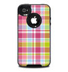 The Yellow & Pink Plaid Skin for the iPhone 4-4s OtterBox Commuter Case