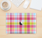 "The Yellow & Pink Plaid Skin Kit for the 12"" Apple MacBook"