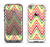 The Yellow & Red Vintage Chevron Pattern Apple iPhone 5-5s LifeProof Fre Case Skin Set