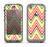 The Yellow & Red Vintage Chevron Pattern Apple iPhone 5c LifeProof Nuud Case Skin Set
