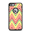 The Yellow & Red Vintage Chevron Pattern Apple iPhone 6 Plus Otterbox Defender Case Skin Set