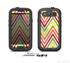 The Yellow & Red Vintage Chevron Pattern Skin For The Samsung Galaxy S3 LifeProof Case