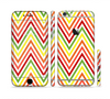The Yellow & Red Vintage Chevron Pattern Sectioned Skin Series for the Apple iPhone 6 Plus