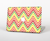 "The Yellow & Red Vintage Chevron Pattern Skin Set for the Apple MacBook Pro 15"" with Retina Display"