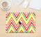 "The Yellow & Red Vintage Chevron Pattern Skin Kit for the 12"" Apple MacBook"