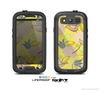 The Yellow & Vintage Tan & Gold Vector Birds with Flowers Skin For The Samsung Galaxy S3 LifeProof Case