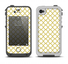 The Yellow & White Seamless Morocan Pattern V2 Apple iPhone 4-4s LifeProof Fre Case Skin Set