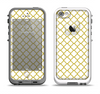 The Yellow & White Seamless Morocan Pattern V2 Apple iPhone 5-5s LifeProof Fre Case Skin Set