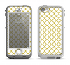 The Yellow & White Seamless Morocan Pattern V2 Apple iPhone 5-5s LifeProof Nuud Case Skin Set