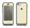 The Yellow & White Seamless Morocan Pattern V2 Apple iPhone 5c LifeProof Nuud Case Skin Set