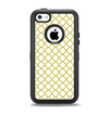 The Yellow & White Seamless Morocan Pattern V2 Apple iPhone 5c Otterbox Defender Case Skin Set