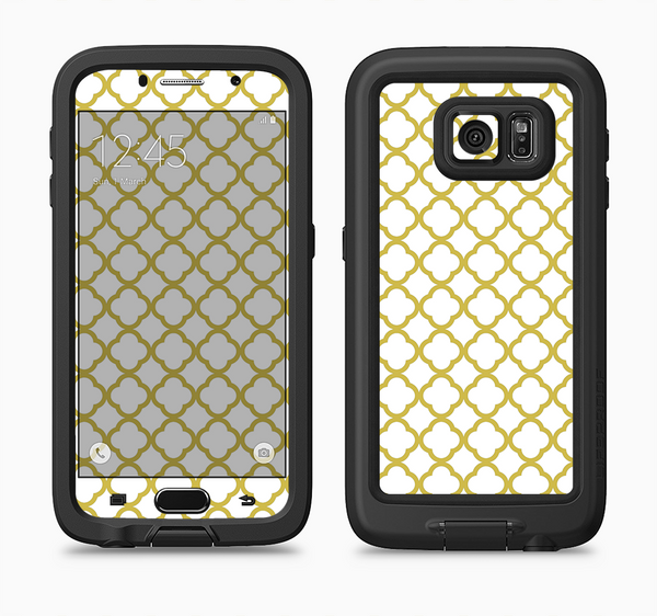The Yellow & White Seamless Morocan Pattern V2 Full Body Samsung Galaxy S6 LifeProof Fre Case Skin Kit